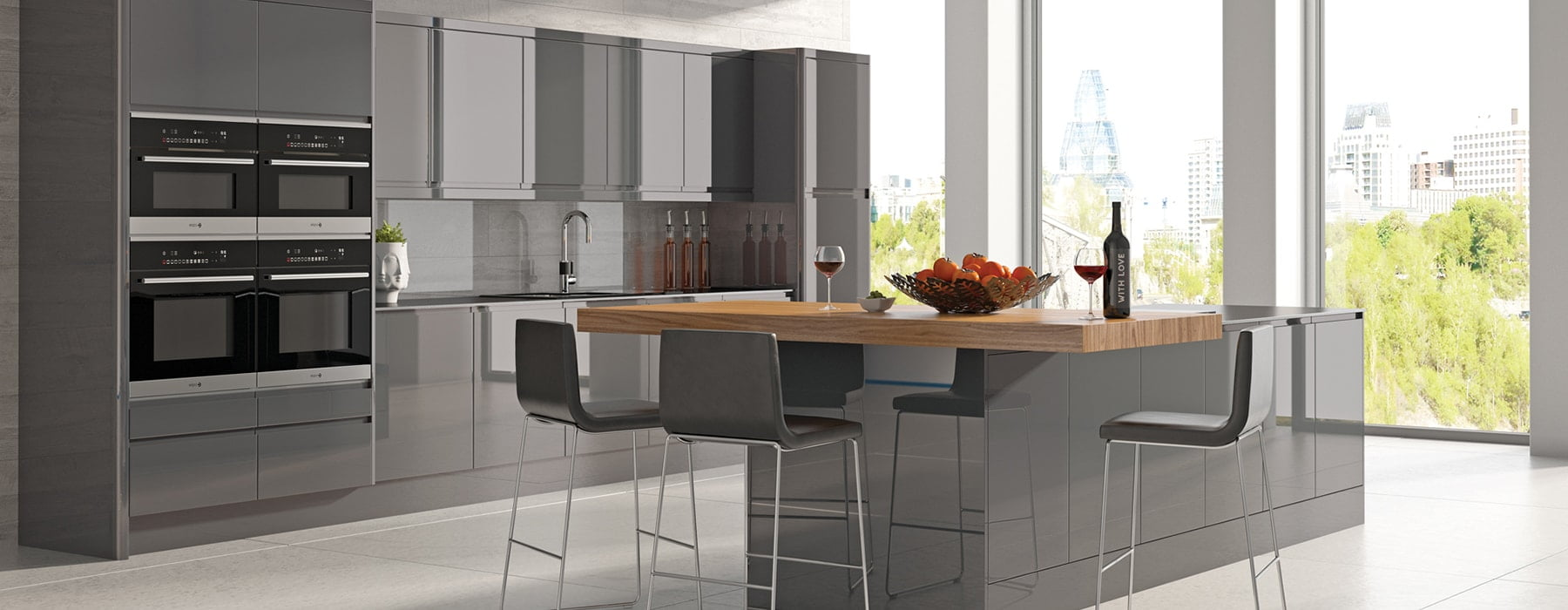 Integra Dakota Handleless Kitchen