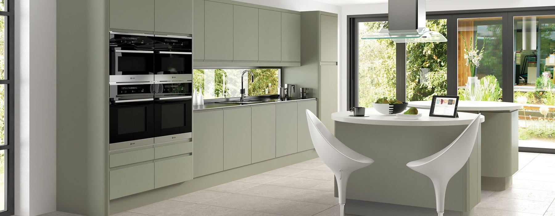 integra matt deep lichen kitchen