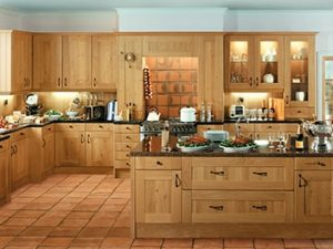 wood style traditional kitchen