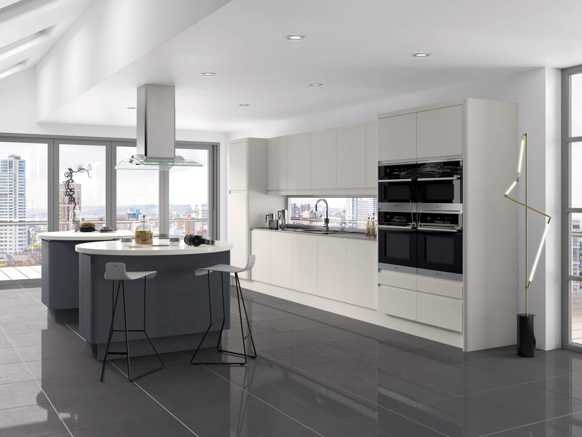 designer kitchen integra bleached