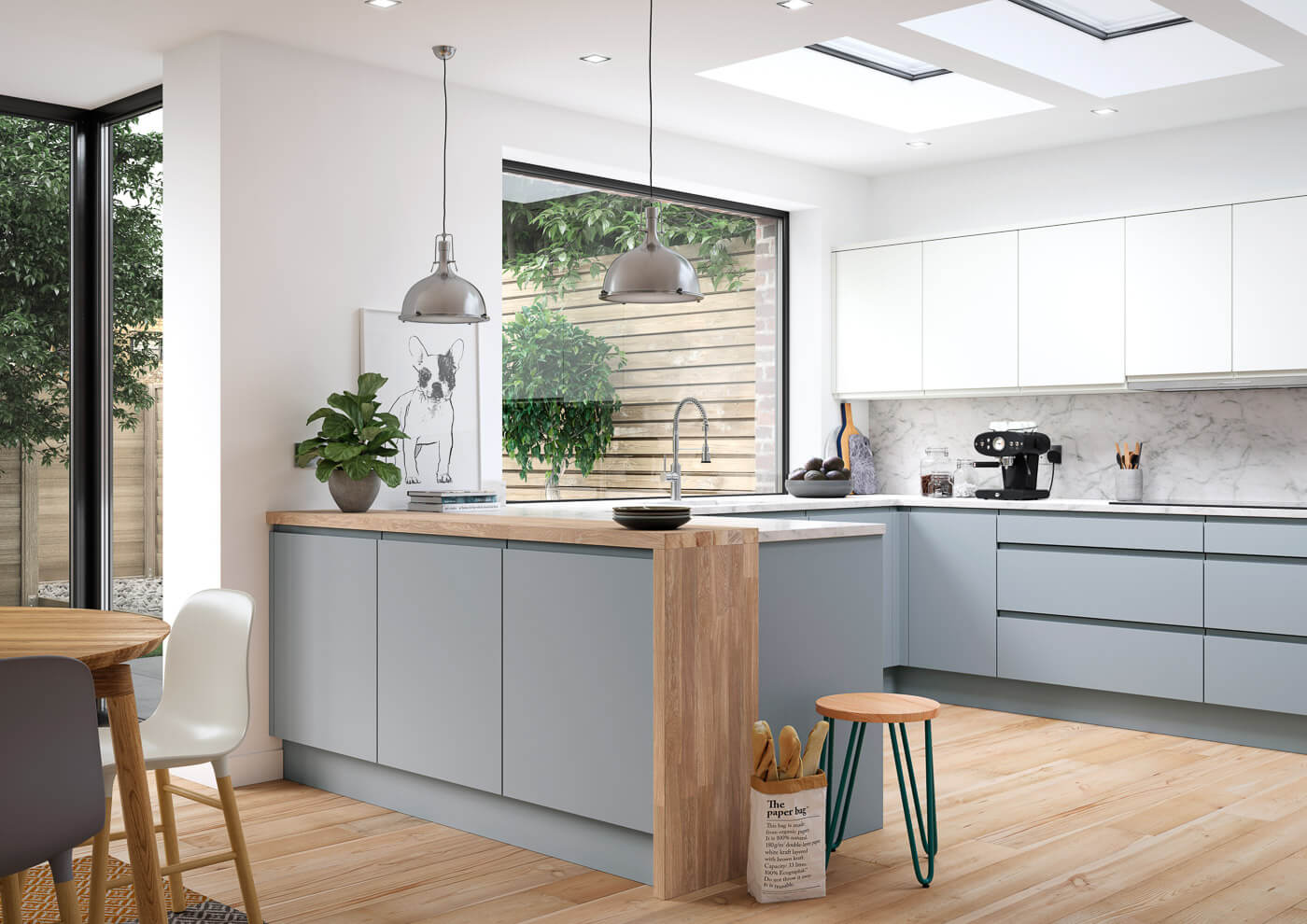 aconbury luna and porcelain modern designer kitchen