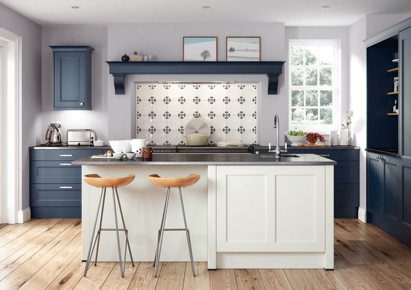 farringdon beaded bespoke traditional kitchen