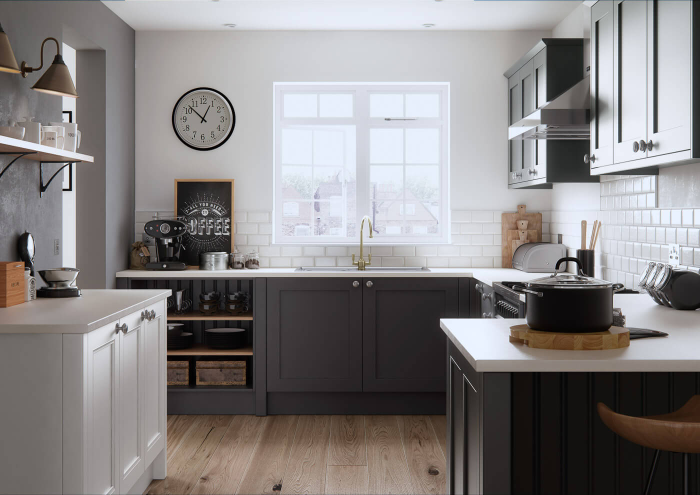 farringdon shaker traditional kitchen