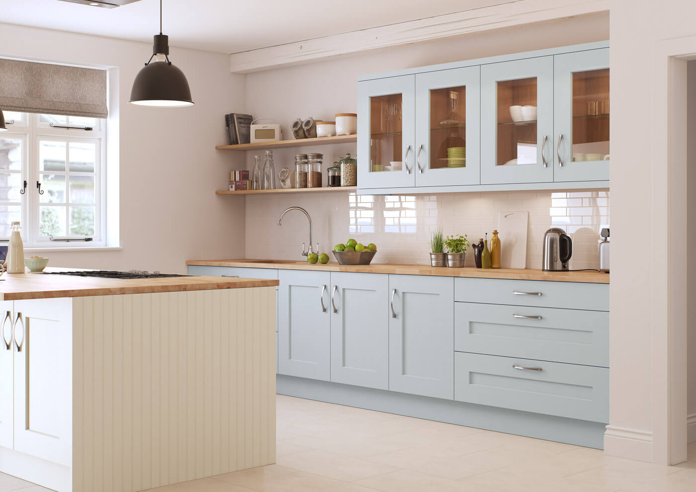 rivington cameo mineral and cream traditional kitchen