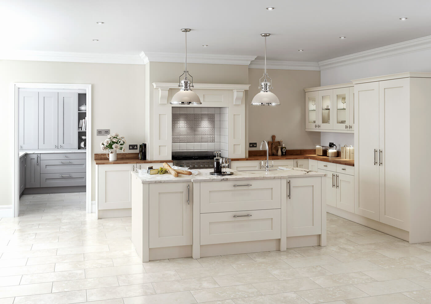 rivington cream traditional kitchen