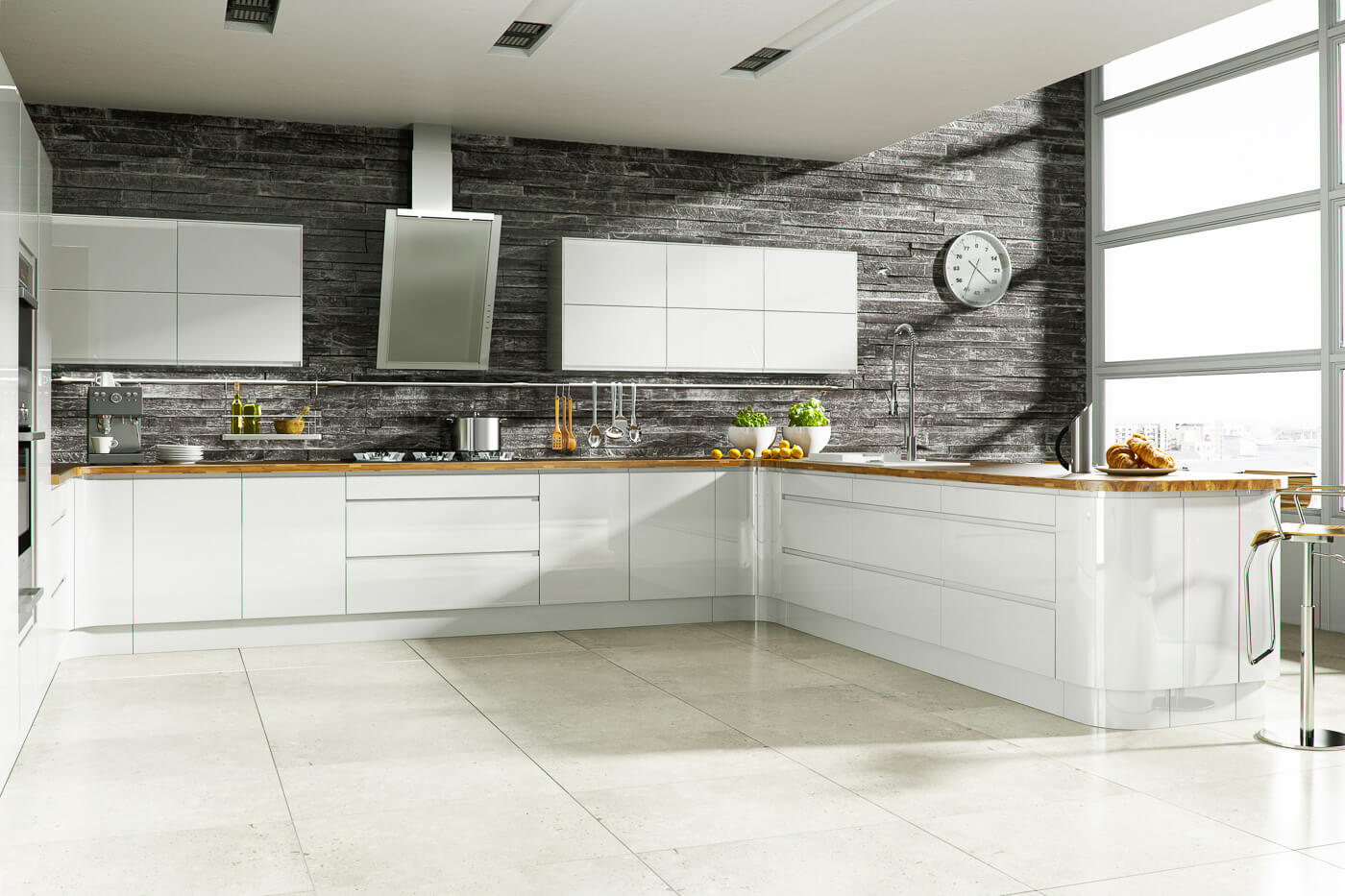 welford bright white modern designer kitchen