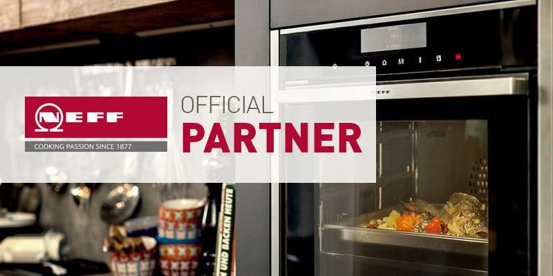 neff oven in modern kitchen showing neff partner status